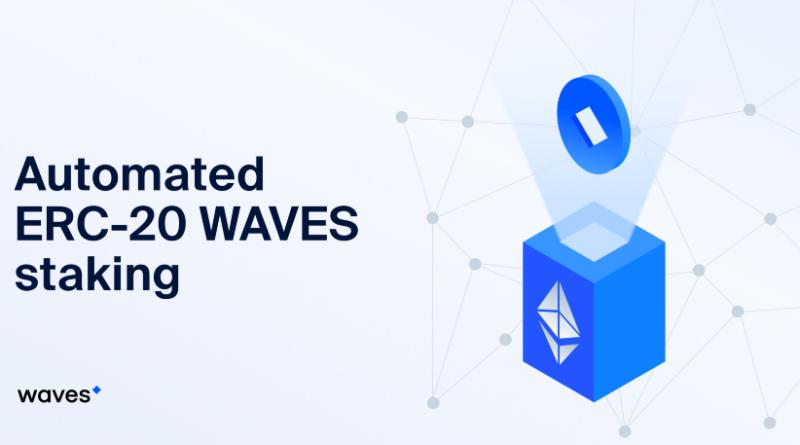 stake WAVES ERC-20